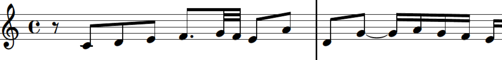 Theme of Fugue 1 in C Major